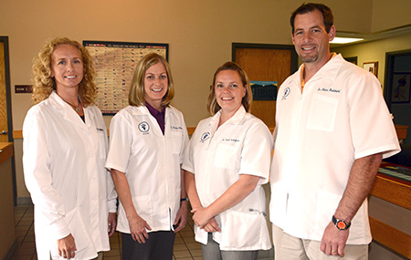 Grand Rapids Veterinary Clinic Doctors Heather Kreuger, Therese Schneider, Leah Gustafson and Hans Kaldahl